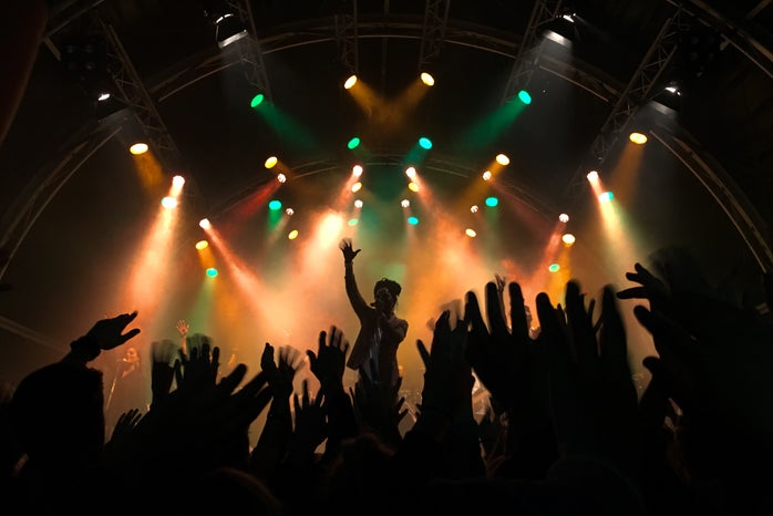 Concert with Crowd Silhouette