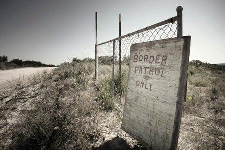 border patrol sign