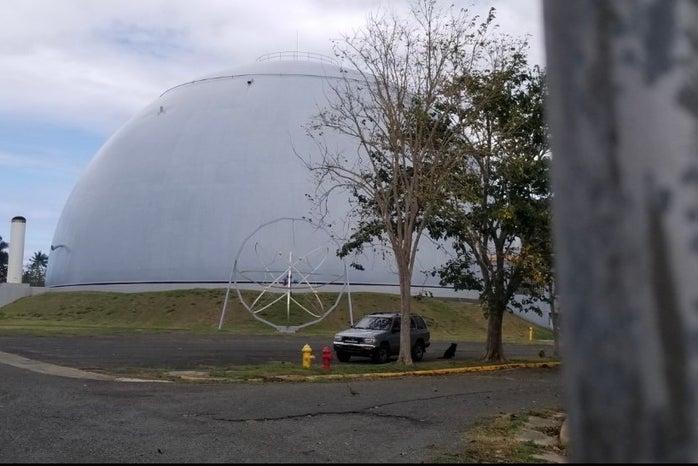 A white dome