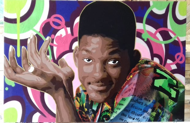 Fresh Prince of Bel-Air Will Smith paiting