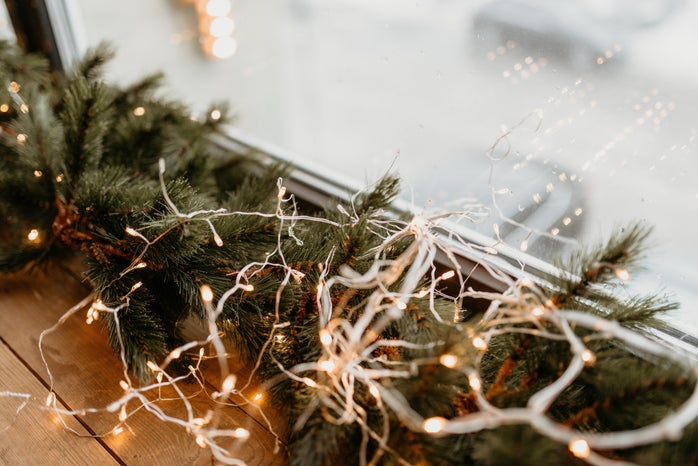 Close-Up Photo of White String Lights
