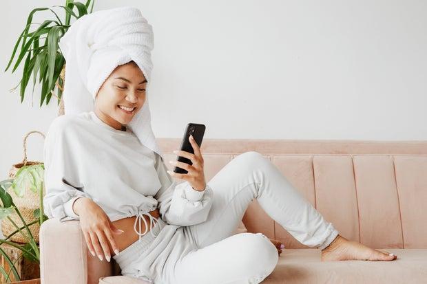 Woman in Loungewear