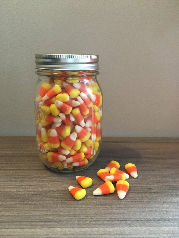 candy corn in a jar