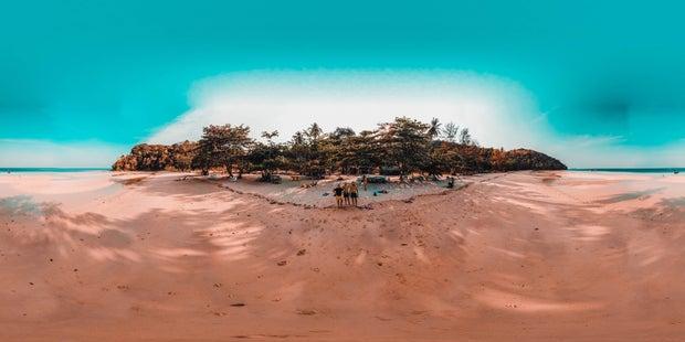 Panorama tropical beach