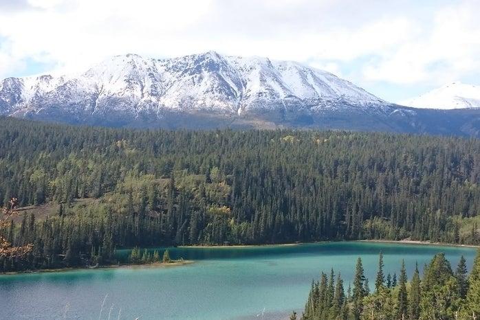 Emerald Lake, Yukon, Mountain in the background