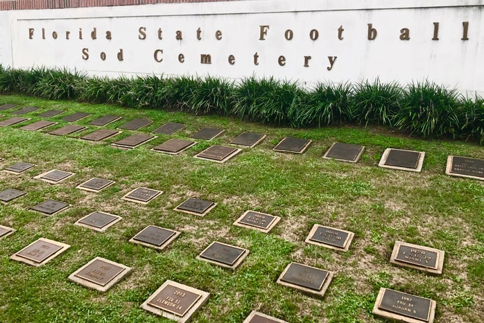 florida state football sod cemetary
