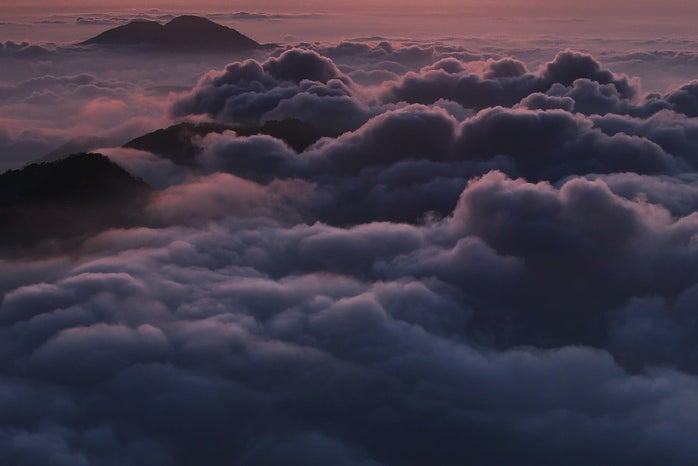 above view of clouds