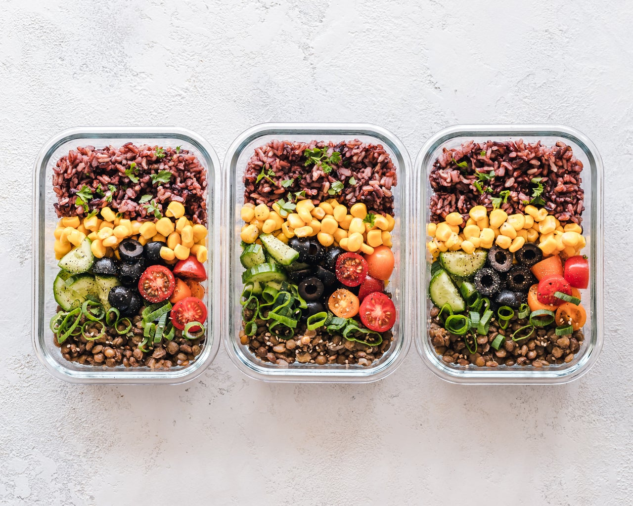 Food in reusable container