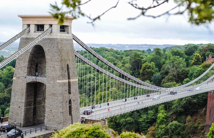 Bristol Clifton Suspension Bridge Beautiful Bristol Scene Clifton Observatory