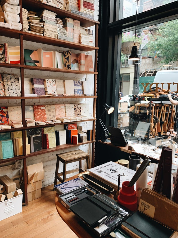 book and stationary shop in NYC