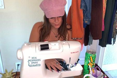 Vanessa with sewing machine