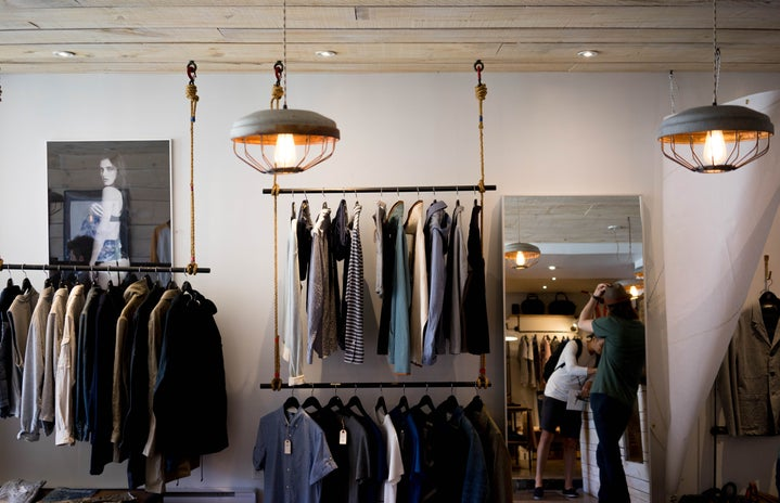 interior of a clothing shop