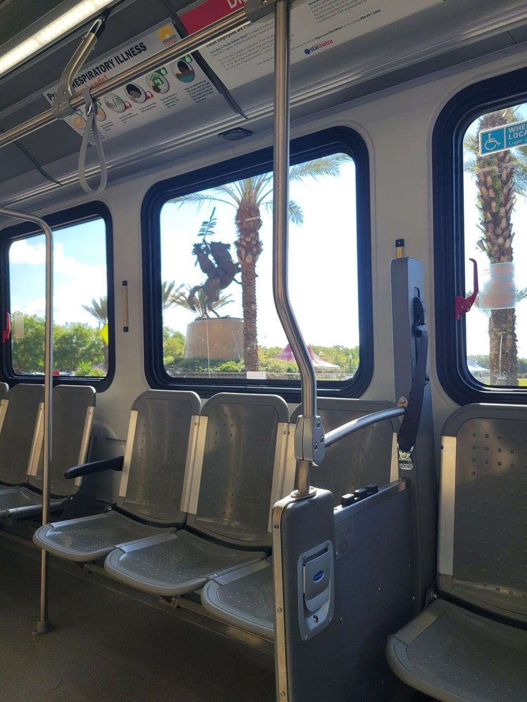 Seminole Express bus interior