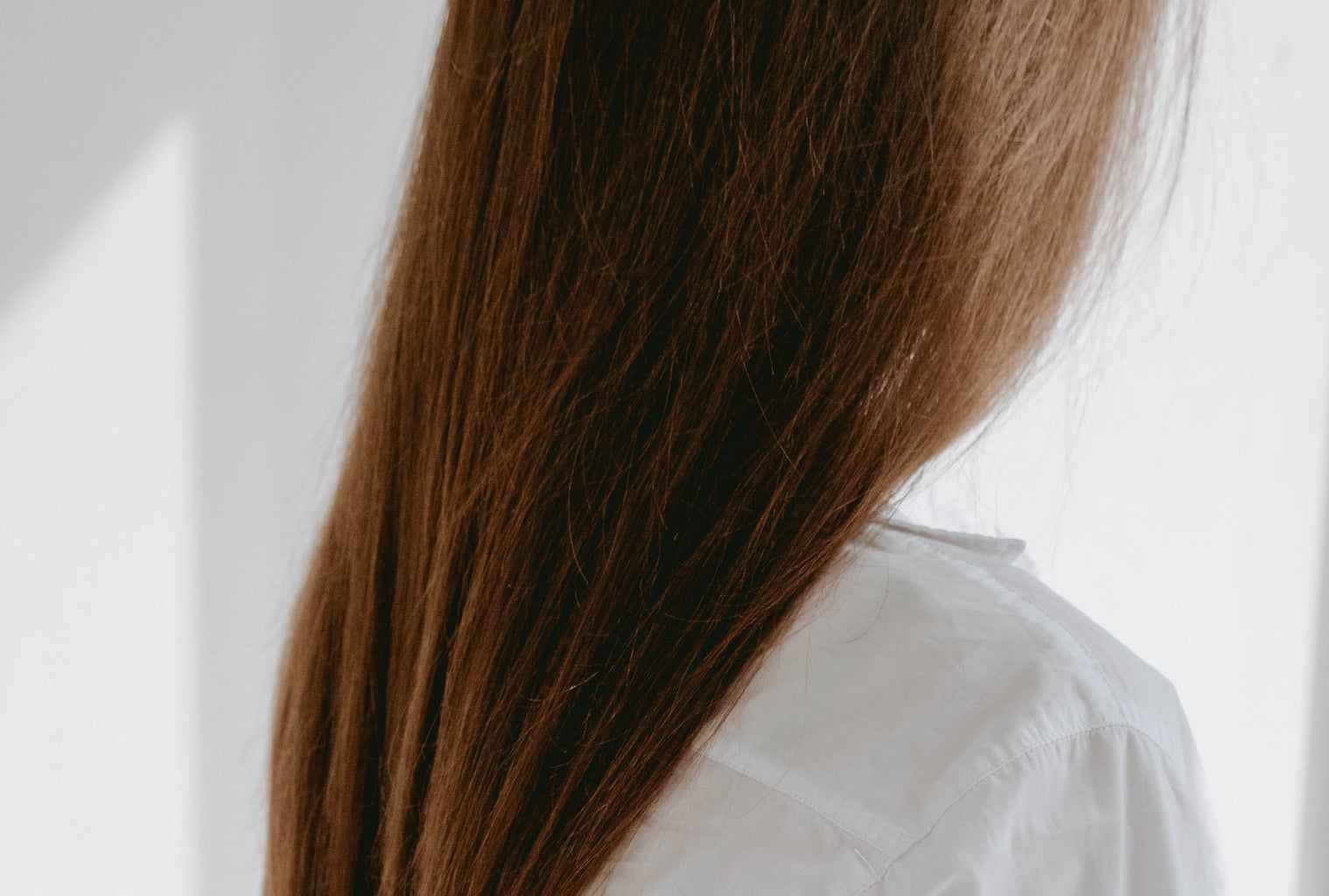 woman with long brown hair