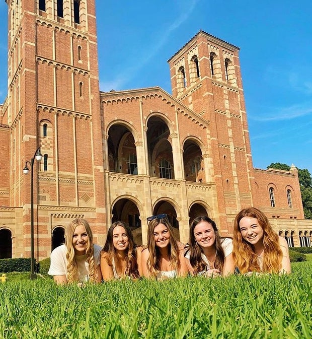 Friends in front of Royce Hall