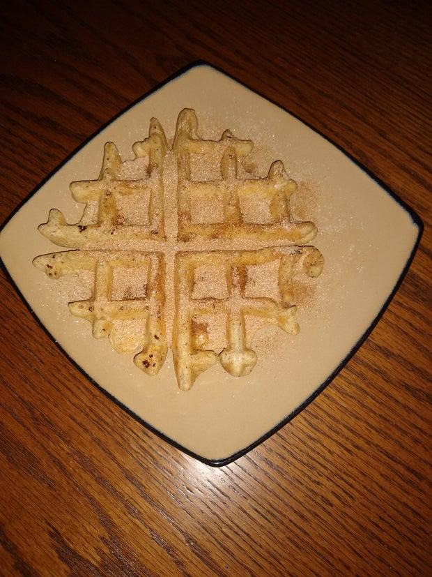 Vegan Cinnamon Sugar Waffle