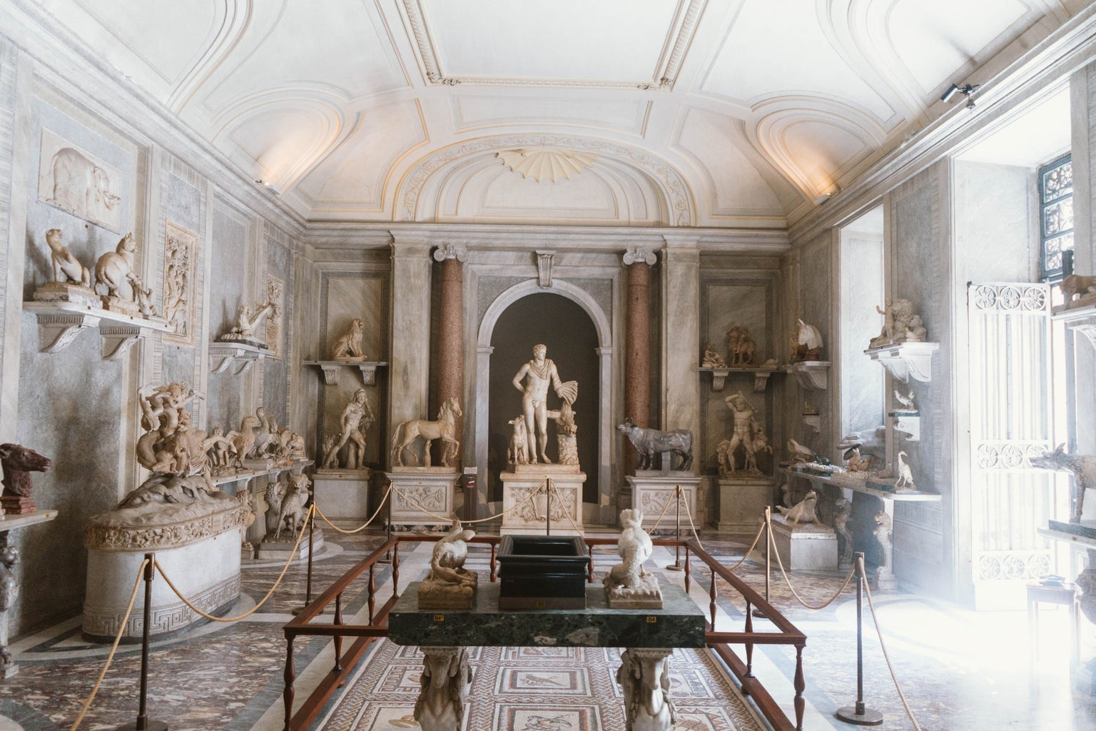White and Brown Museum room