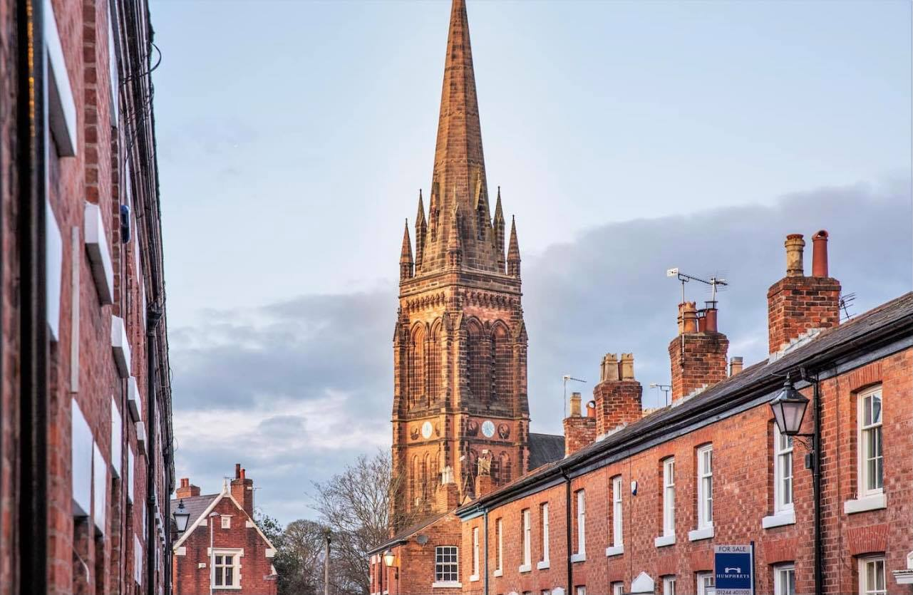 Photo of the city of chester in the UK