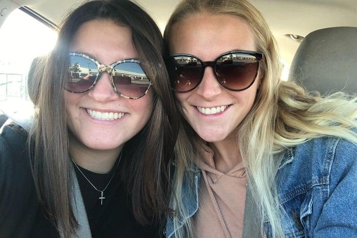two girls smiling sheaffer