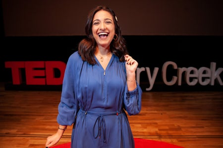 Mary at TED Talk
