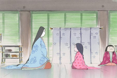 A woman and a girl sitting in a hall