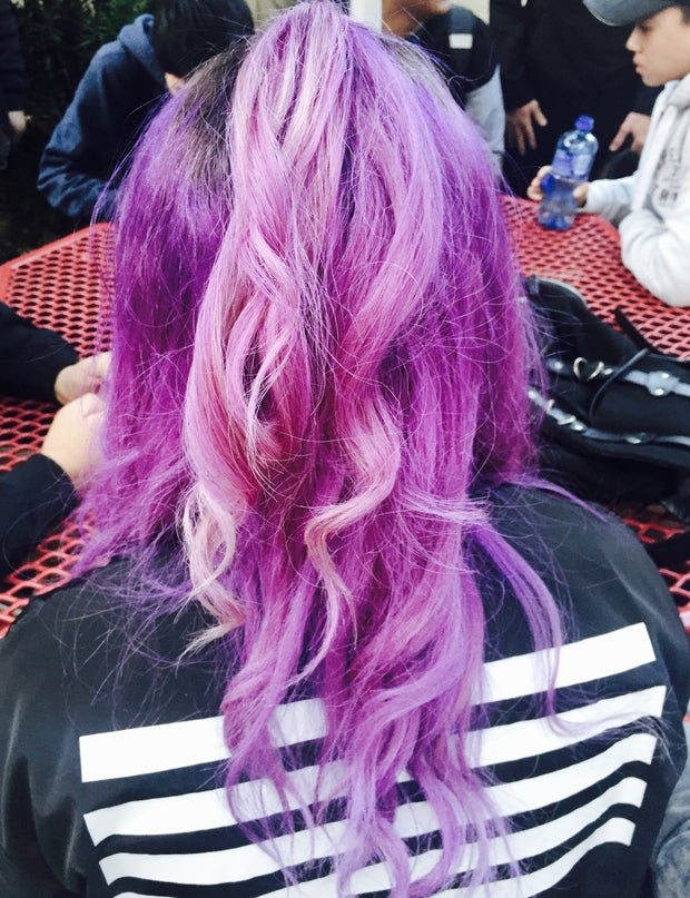 Picture of my pastel purple hair