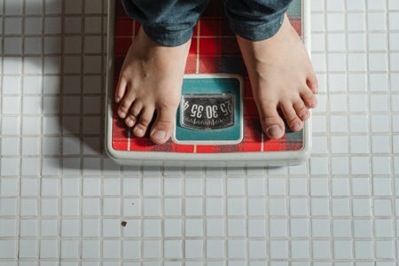 Person on a weight scale