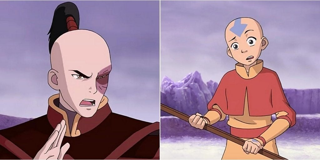 Zuko on the left and Aang on the right from season 1