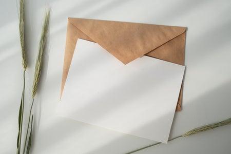 Letter and envelope