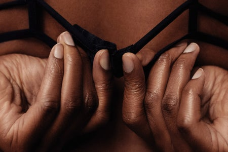 Black women in bra