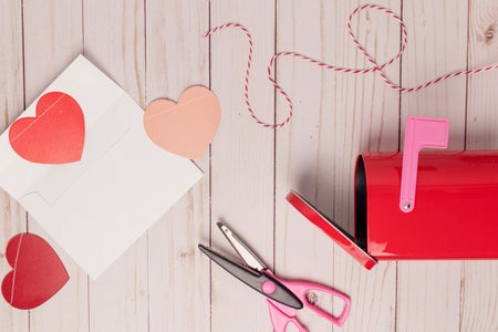 Valentine's hearts cut outs
