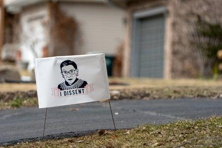 """Ruth Bader Ginsburg """"I Dissent"""" Yard sign"""