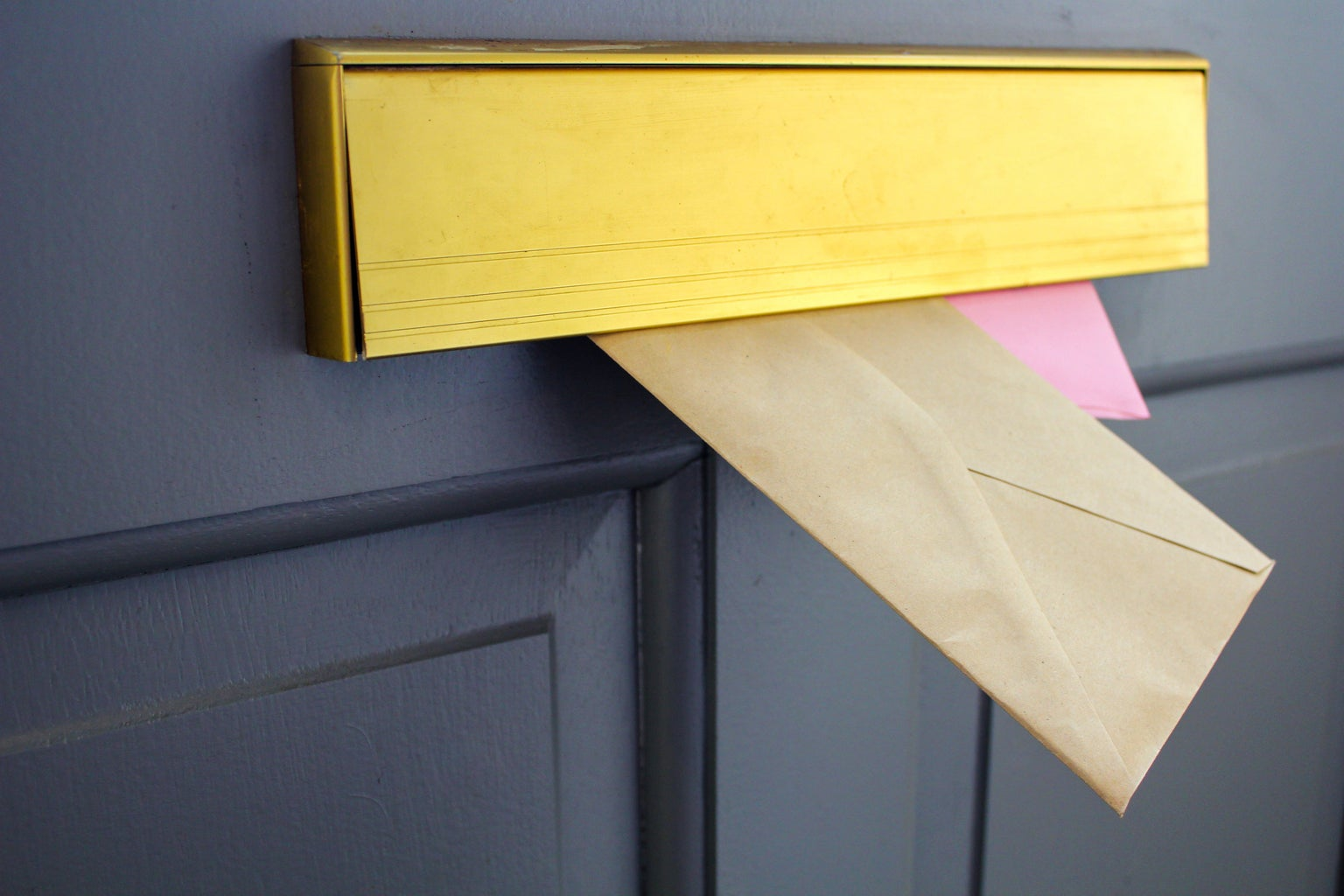Two letters in letter box
