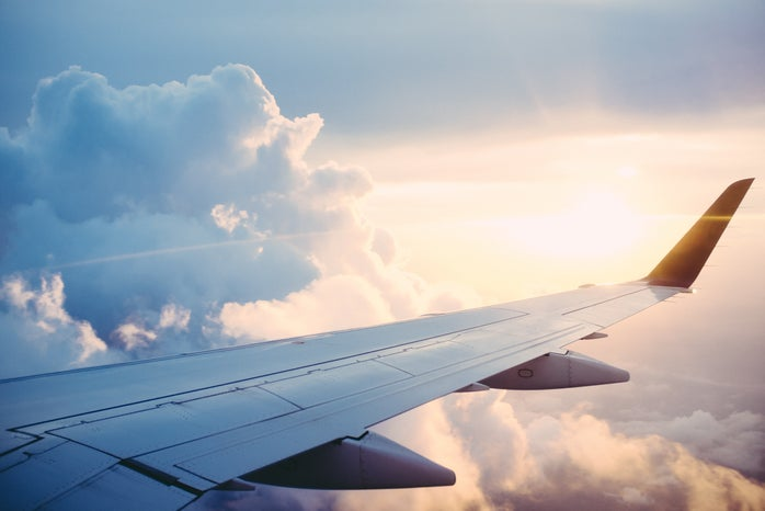 plane, air, clouds, sky, airline