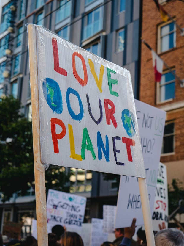 Love our planet sign
