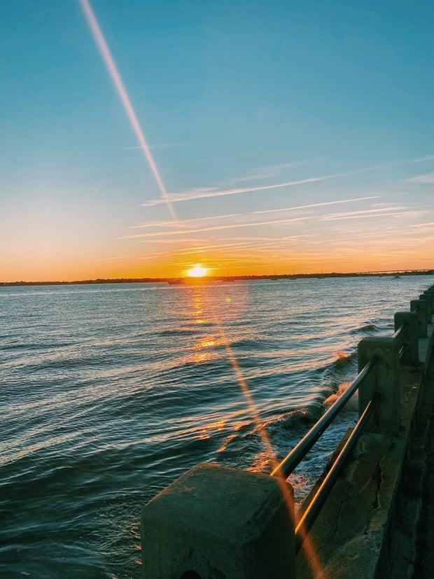 Sunset at the Battery: Charleston, SC