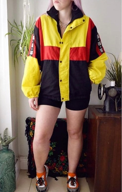 Owner wearing items of clothing from brand, taken on timer