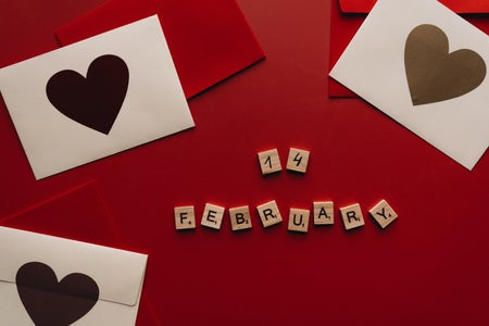 february 14th with scrabble letters