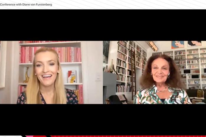 Diane von Furstenberg and Windsor Hanger Western in conversation in a webinar