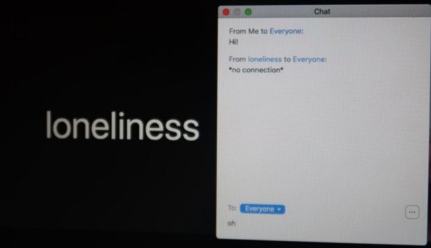 zoom chatroom discussion with loneliness