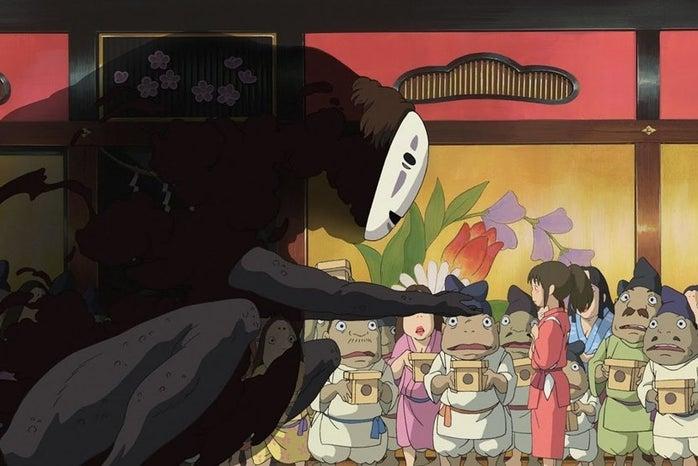 Screen stills from Ghibli movies.