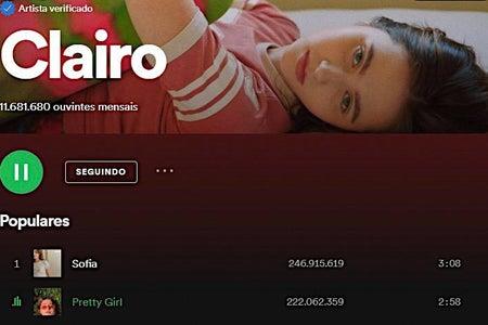 Print of Clairo's profile on Spotify