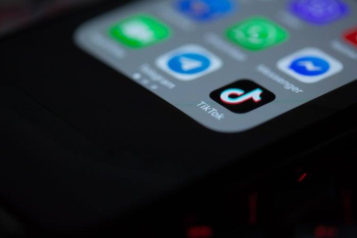 TikTok App on iPhone
