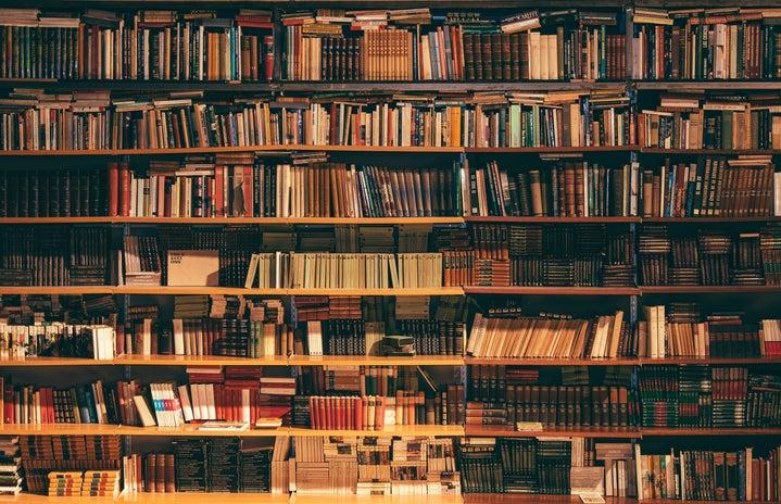 books on bookstore shelf