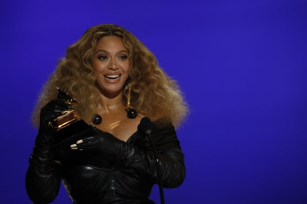 Beyonce at the 2021 Grammy Awards