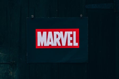 Marvel logo sign