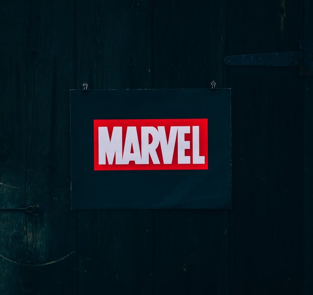 Marvel logo sign