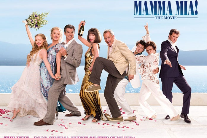 Early poster for the movie \'Mamma Mia!\'