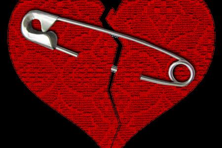 broken heart safety pin