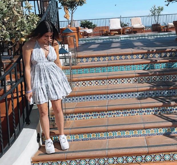 Girl In Halter Dress